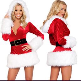 Wholesale Costume Santa Claus Woman Sexy - Plush Edge Sexy Elastic Bunny Skirt Strapless Christmas Dresses Christmas Costume Nightclub Uniforms Party Singer Performance Costumes