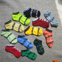 Wholesale Faster Women - Hot Sale Newest Love vs Pink Socks Fashion Women Sports Victoria Short Sports Socks For Running Basketball In Stock Fast Shipping