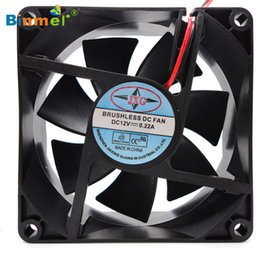 2019 fan sin cepillo del ordenador de 12v dc Al por mayor-venta caliente BINMER Computer Fan Gifts 1PC 80X80X25mm 12V 4Pin DC PC sin escobillas PC Ventilador de refrigeración 1800PRM fan sin cepillo del ordenador de 12v dc baratos