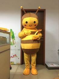 Wholesale Bee Costumes For Adults - high quality little bee mascot costume for adults 100% real picture free shipping