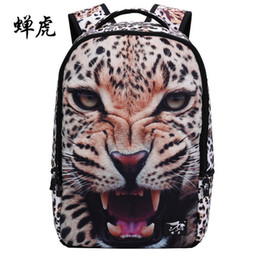 Wholesale Dog Bags For Sale - 2016 Sale Real Kpop Leather Backpack Design Dog Tiger Backpacks For Zoo Animal Children Bag Pack Mochila School Kids Rucksack