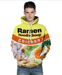 Wholesale Chicken 3d - New Fashion Couples Men Women Unisex HD beef ramen Chicken noodles Food 3D Print Hoodies Sweater Sweatshirt Jacket Pullover Top