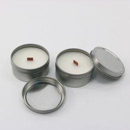 Wholesale Wax Cans Wholesale - Soy Wax Candle Natural Plant Eco Friendly Bougie With Scented Tinplate Cans Package Candles Pollution Free 3 5sk B R