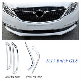 Wholesale Cover Rear Fog Light - NEW 2017 Buick GL8 ABS Chromed Auto Car Front Rear Fog Lamp Light   Rear Brake Lamp Cover Trims Decoration Sticker Accessories Trim