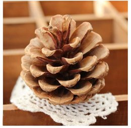 Wholesale Wooden Stand Christmas Decorations - new Christmas decorations cute Christmas tree Decorative natural Pine nuts DIY Party Home Decor high quality Pendant Party Supplie wholesale