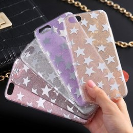 Wholesale Bling Blackberry Covers - For iPhone7 Bling Luxury Glitter Powder Star Soft TPU Gel Case Cover for iPhone 5 5S SE 6 6S 7 Plus