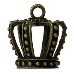 "Wholesale Bronze Crown Charm - Charm Pendants Crown Antique Bronze 32mm(1 2 8"") x 30mm(1 1 8""),2 PCs 2016 new jewelry making DIY"