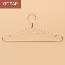 Wholesale Hangers Stainless - Yidear 42cm Anti Wind Stainless Steel Clothes Hanger Metal Wire Coat Hanger, Wet and Dry Use Metal Hanger