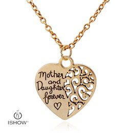 Wholesale Wholesale Mothers Day Gifts Cheap - 2017 Jewelry sets cheap staement choker necklace for women Mother and Daughter forever heart pendant necklaces