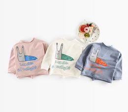 Wholesale Infant Girl Cardigans - Ins New Autumn Infant Baby Cartoon Cotton Coat Girls Boys Long Sleeve Cardigan V Neck Outwear Tops Tshirt Jacket Coats 13391