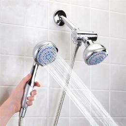 double head shower head 3way 2in1 dual shower heads