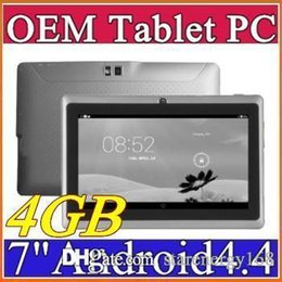 Wholesale Android Tablets 4gb Quad Core - Dual Camera Q88 A33 Quad Core Tablet PC Flashlight 7 Inch 512MB 4GB Android 4.4 kitkat Wifi Allwinner Colorful DHL MID cheapest new C-7PB