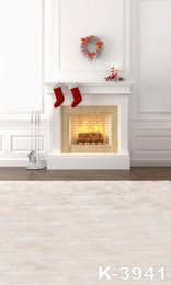 Wholesale Fireplace Gifts - 5X7ft Christmas Fireplace Gift Socks Background Scenic Backdrop For Wedding Backgrounds Computer Printed Photos Vinyl Backdrop Photograp