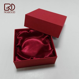 Wholesale Craft Corner - Wholesale New quality square corner cardboard paper gift packaging box for jewelry bracelet with foam insert coated silk cloth Free Shipping