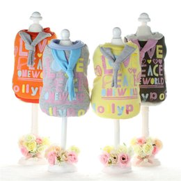 Wholesale Lollipops Costumes - Lollipop scarf dog clothes uk for small dogs girl Autumn and winter dog costumes puppy clothes