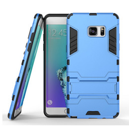 Wholesale Class Stand - Iron Man Super Protection 3 in 1 TPU+PC+Stand case for Samsung Galaxy s7 s7 egde iphone 7 7plus Class shockproof back cover case with holder