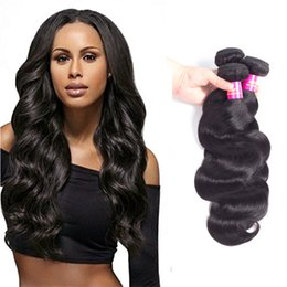 hair damage Coupons - TOP 8A USOFT Brazilian Body wave brazillian hair Selling Natural color unprocessed can be extended without damaging the hair Free Shipping