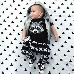 Wholesale Boys Pyjamas New - 2016 new children with short sleeve children suit Cotton fox head X cartoon Pyjamas Short Sleeve + Pants 2 Piece Sets