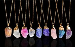 Wholesale Irregular Charm Necklace - brass charms diffuser pendants new jewelry 2016 hot selling Natural stone Assorted Mixed Irregular shape pendants charms 10pcs lot Wholesale