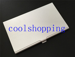 Wholesale Wholesale Business Card Holders Metal - Stainless Steel Pocket Box Business ID Credit Card Case Metal Fine Box Holder