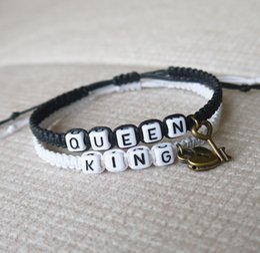 Wholesale Couples Lock Key Bracelet - New King Queen Couples Bracelets,Key lock Personalized Gift, Men Women Loves Bracelets, Boyfriend Girlfriendift Jewelry