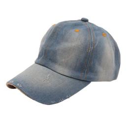 Wholesale Wide Brim Baseball Cap - Wholesale-Durable 2016 New Fashion Casquette Gorras Fashion Men's Women's Jean Sport Hat Casual Denim Baseball Cap Sun Hat