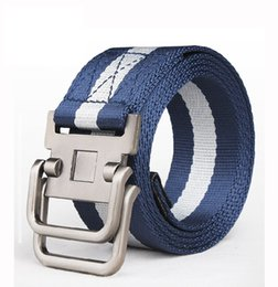 Wholesale wholesale canvas belt strapping - 2017 Rushed Direct Selling Striped Adult Cintos Femininos Belts Men Belt Belt Man Canvas Lengthen Strap Personality Male Nylon