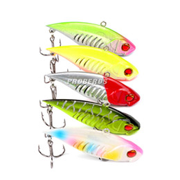 Wholesale Vmc Hooks - Most Realistic VIB Fishing Lures 6.5cm 11.8g Top Quality 6# vmc Hook 5 colors Likelife jerk Bait