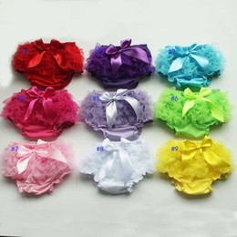 Wholesale Girls Ruffled Red Bloomers - Wholesale baby ruffle shorts baby girls bloomers chiffon fashion kids tulle summer short pants girls boutique pants toddler cotton underwear