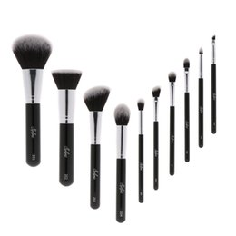 makeup black hair Promo Codes - Sylyne Professional Makeup Brush Set High Quality 10pcs Makeup Brushes Classic Black Handle Soft Hair Make Up Brushes Kit Tools