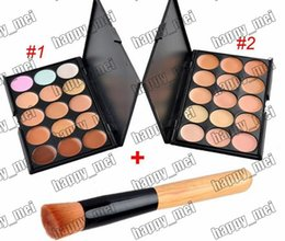 Wholesale Wholesale Full Makeup Brushes Set - Factory Direct DHL Free Shipping New Makeup Face Makeup Set 15 Colors Concealer Palette With Brush!2 Different Colors!