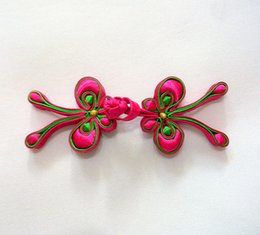 Wholesale Hand Made Chinese Dress - 3.7*10.5cm high quality hand-made red butterfly Chinese knot buttons frog for cheongsam,Chi-pao, qipao,Chinese dress, clothes
