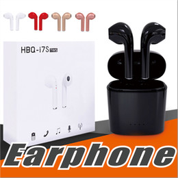 Wholesale Lg Bluetooth Earpiece - HBQ i7S TWS Wireless Bluetooth Earphones For iphone X Twins Invisible Earbuds V4.2 Stereo Music Headset Phone Earpiece With Retail Package