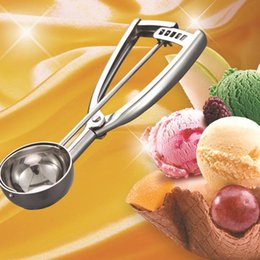 Wholesale Icecream Scoops - New Stainless Steel IceCream Mash Potato Scoop Ice Cream Stacks Spoon Kitchen Tool Middle Ice Cream Tool Kitchen Accessories order<$18no tra