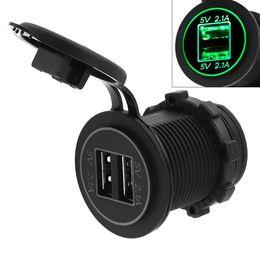 Argentina 5V 4.2A Adaptador de cargador USB impermeable de doble apertura para Auto / Moto / Barco CEC_62P Suministro