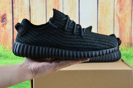 Wholesale Table Tennis Footwear - 2016 Hot Wholesale 2017 boost 350 Pirate Black Running Shoes Footwear Sneakers Men And Women Kanye West 350 Boost milan Sport Shoes With Box