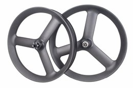 Wholesale 26 Inch Mountain Bike Wheels - 26er Tubeless Carbon Tri 3 spoke Fat bike Wheels Fatbike carbon wheels Wheelset 90mm Width