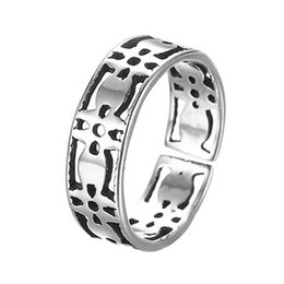Wholesale Personalized Jewelry Friends - 5pcs lot Personalized Real Pure 925 Sterling Silver Jewelry Wholesale Best Friends Rings Knuckle Wedding Band Punk Accessories