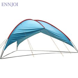 Wholesale Large Camping Tents - Wholesale- 480*480*480*210cm Ultralight Sunshelter Anti-UV Waterproof Sun Shelter Super Large Beach Tent 210T Polyester Cloth Camping Tent
