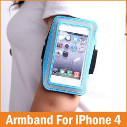 Wholesale Mobile 4g Band - Wholesale-Adjustable Running SPORT GYM Armband Bag Case for apple iPhone 4 4S 4G Cover Premium Jogging Arm Band Capa Mobile Phone Bags