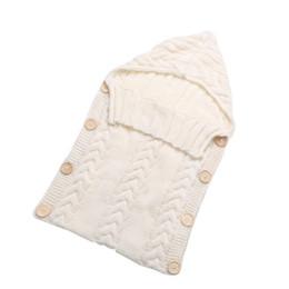 Wholesale Kids Animal Sleeping Bags - Wholesale- Newborn Baby Wrap Swaddle Blanket 0-12 Months Kids Toddler Wool Knit Blanket Swaddle Baby Sleeping Bag Sleep Sack Stroller Wrap