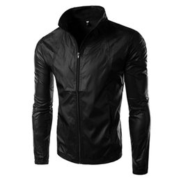 Wholesale Black Turtleneck Jacket - 2016 New Arrival Men Casual Long Sleeve Jackets Dust coat quick-drying clothes slim fit Jacket Windproof waterproof Clothing