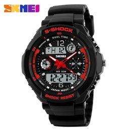 Wholesale Skmei Waterproof - Most Popular Student Watches SKMEI Children Sports Watches Fashion LED Quartz Digital Watch Boys Girls Kids 50M Waterproof Wristwatches