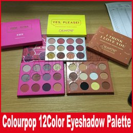 Wholesale Powder X - Colourpop Cosmetics X Karrueche Karrueche Fem Rosa She I think i love you Yes,please! Pressed Powder Eyeshadow Palette 12 color Eye shadow