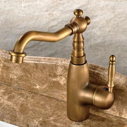 Wholesale Brass Traditional Sink - Bronze Sink Faucet Hot and Cold Brass Water Mixer Taps with Single Handle for Bathroom & Kitchen