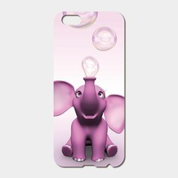 Wholesale Iphone 5c Elephant Case - For iPhone 6 6S Plus SE 5S 5C 4S iPod Touch 6 5 Hard PC pink elephant Phone Cases
