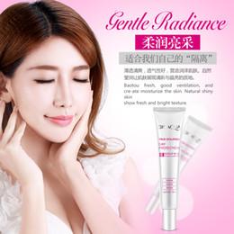 Wholesale Nude Female Oil - Wholesale-Gentle brightening makeup Cream Moisturizing makeup before the milk oil Concealer brighten skin female nude make-up Face Cream