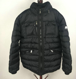 Winterjacke Männer Stehkragen Puffy Ente Bettdecke Outdoor Ski Daunenmantel Mode Männlichen Daunenbekleidung Schwarz Plus Größe 3XL von Fabrikanten