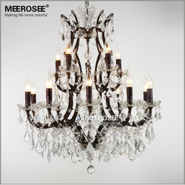 Wholesale Rustic Office Decor - Vintage Crystal Loft Chandelier Light Retro Rustic Hanging Ligts Fixture Suspension Drop Lamp for Home Decor Free Shipping