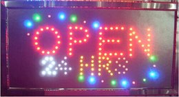 Wholesale Hours Sign - 2016 hot sale Graphics Semi-outdoor 10x19 Inch shop 24 hours open Led Ultra Bright Neon Signs wholesale